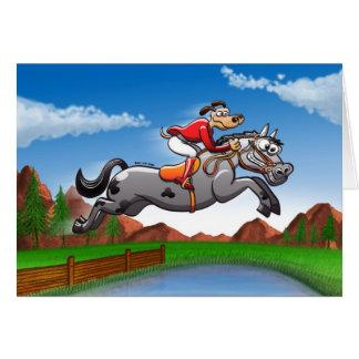 Equestrian Jumping Dog Card