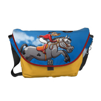 Equestrian Jumping Dog Courier Bag