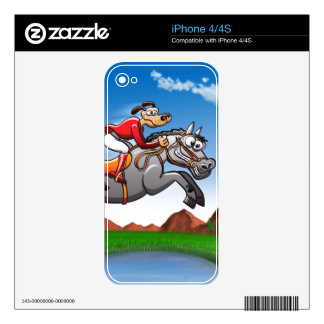Equestrian Jumping Dog iPhone 4 Skin