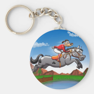 Equestrian Jumping Dog Key Chains