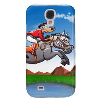 Equestrian Jumping Dog Samsung Galaxy S4 Case
