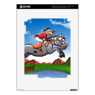 Equestrian Jumping Dog Skins For iPad 3
