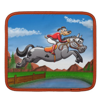 Equestrian Jumping Dog Sleeve For iPads