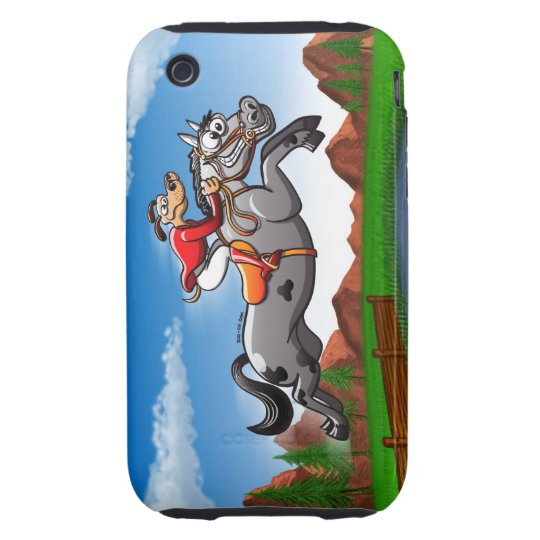 Equestrian Jumping Dog Tough iPhone 3 Cover