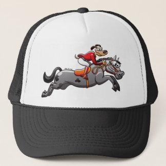 Equestrian Jumping Dog Trucker Hat