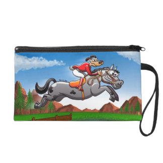 Equestrian Jumping Dog Wristlet