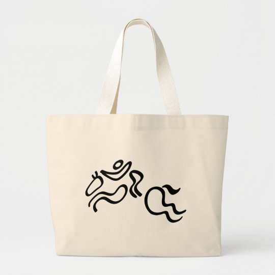 Equestrian Jumping Large Tote Bag