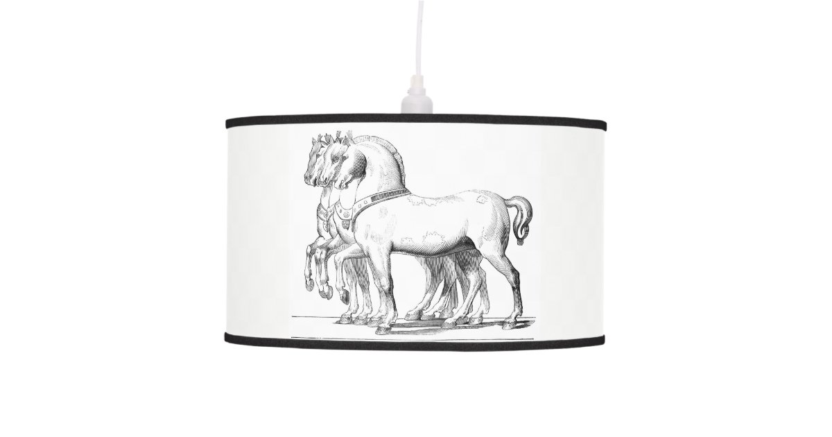 modern decorative fathers com large horse dp amazon equestrian lamp led table concrete geometric