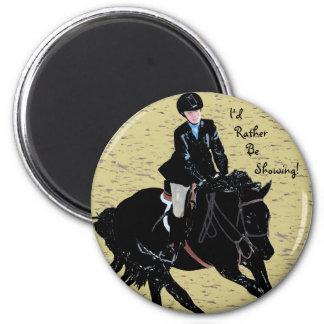 Equestrian lindo de la demostración del caballo imán redondo 5 cm
