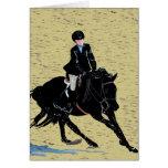 Equestrian lindo de la demostración del caballo tarjetas
