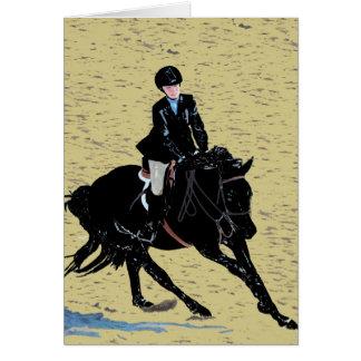 Equestrian lindo de la demostración del caballo tarjeta de felicitación