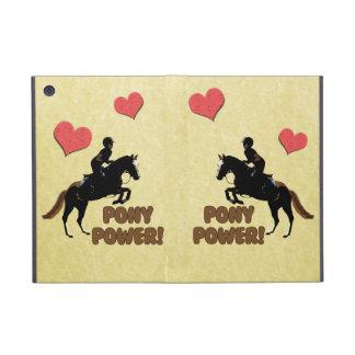 Equestrian lindo del poder del potro iPad mini funda