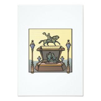 Equestrian Monument Card