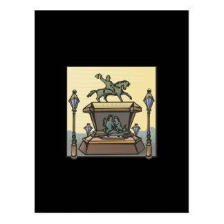 Equestrian Monument Postcard
