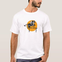 Equestrian on Horse Show Jumping Retro T-Shirt