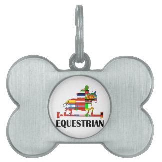 Equestrian Pet Name Tag