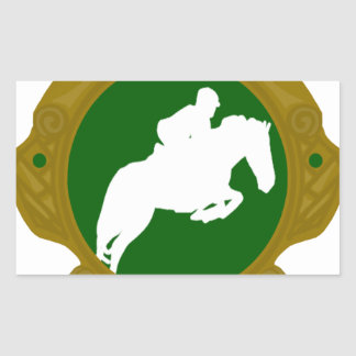 Equestrian.png irlandés pegatina rectangular