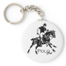 equestrian polo club keychain