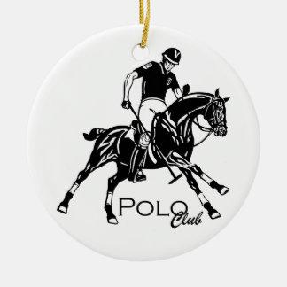 equestrian polo sport club ceramic ornament