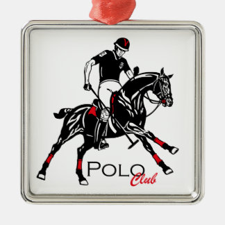 equestrian polo sport club metal ornament