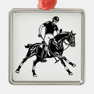 equestrian polo sport metal ornament