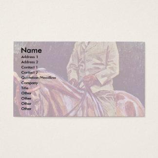 Equestrian Portrait By Trübner Wilhelm Business Card