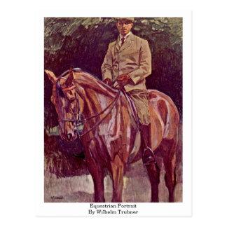 Equestrian Portrait By Wilhelm Trubner Postcard