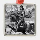Equestrian portrait christmas tree ornaments