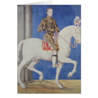 Equestrian Portrait Dauphin Henri II Card