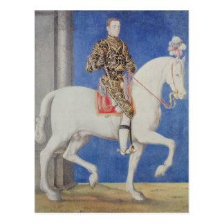 Equestrian Portrait Dauphin Henri II Postcard