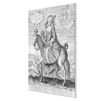 Equestrian Portrait of Anne of Denmark (1574-1619) Canvas Print