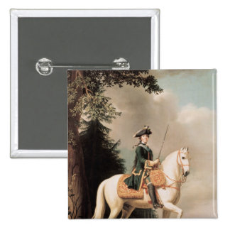 Equestrian Portrait of Catherine II Pinback Button