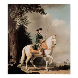 Equestrian Portrait of Catherine II Poster