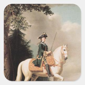 Equestrian Portrait of Catherine II Square Sticker