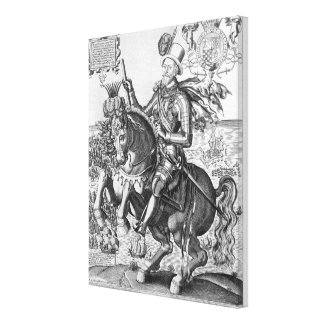 Equestrian Portrait of Charles Howard (1536-1624) Canvas Print