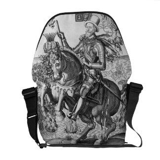 Equestrian Portrait of Charles Howard (1536-1624) Messenger Bag