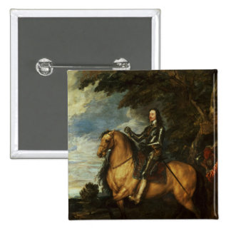 Equestrian Portrait of Charles I  c.1637-38 Pinback Button