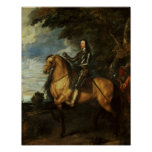 Equestrian Portrait of Charles I  c.1637-38 Print
