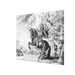 Equestrian Portrait of Charles II  with Gods Canvas Prints