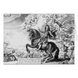 Equestrian Portrait of Charles II  with Gods Greeting Cards