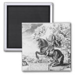 Equestrian Portrait of Charles II  with Gods Refrigerator Magnet