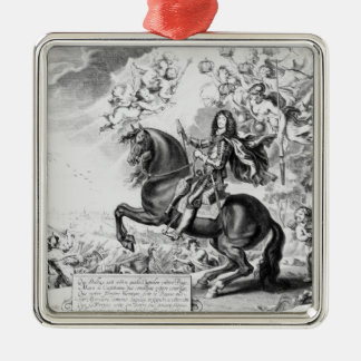 Equestrian Portrait of Charles II  with Gods Metal Ornament