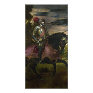 Equestrian Portrait of Charles V by Titian Personalized Photo Card