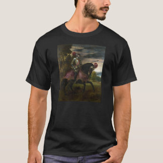 Equestrian Portrait of Charles V by Titian T-Shirt