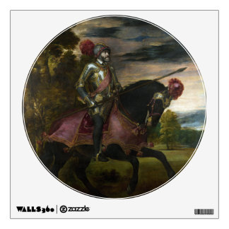 Equestrian Portrait of Charles V by Titian Wall Decal