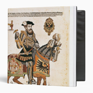 Equestrian portrait of Charles V in armour 3 Ring Binder