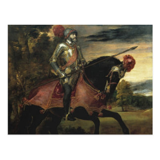 Equestrian Portrait of Charles V Postcard