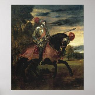 Equestrian Portrait of Charles V Print
