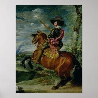 Equestrian Portrait of Don Gaspar de Guzman Posters