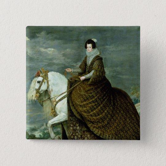 Equestrian portrait of Elisabeth de France Button
